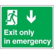 Safe Safety Sign - Exit emergency Down 076